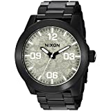 Nixon Men's 'Corporal SS' Quartz Stainless Steel Casual Watch, Color Grey (Model: A3462687) (Color: Black/Concrete, Tamaño: One Size)