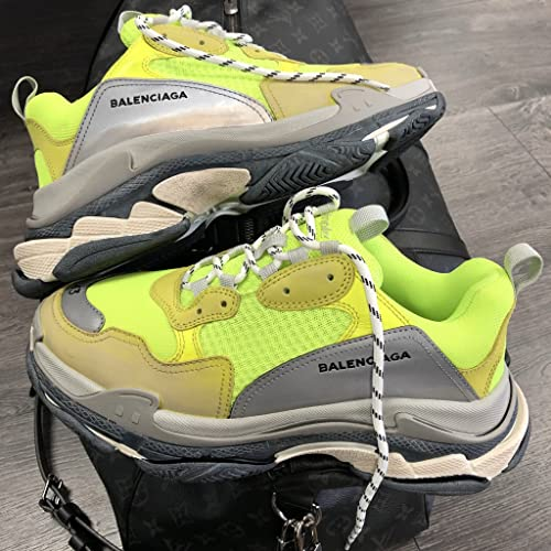 Balenciaga Men's Yellow Fluo Triple S low-top trainers