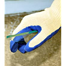 G & F 1607L Cut Resistant 100-Percent Kevlar Gloves, Heavy Weight Textured Blue Latex Coated, Large, 1-Pair