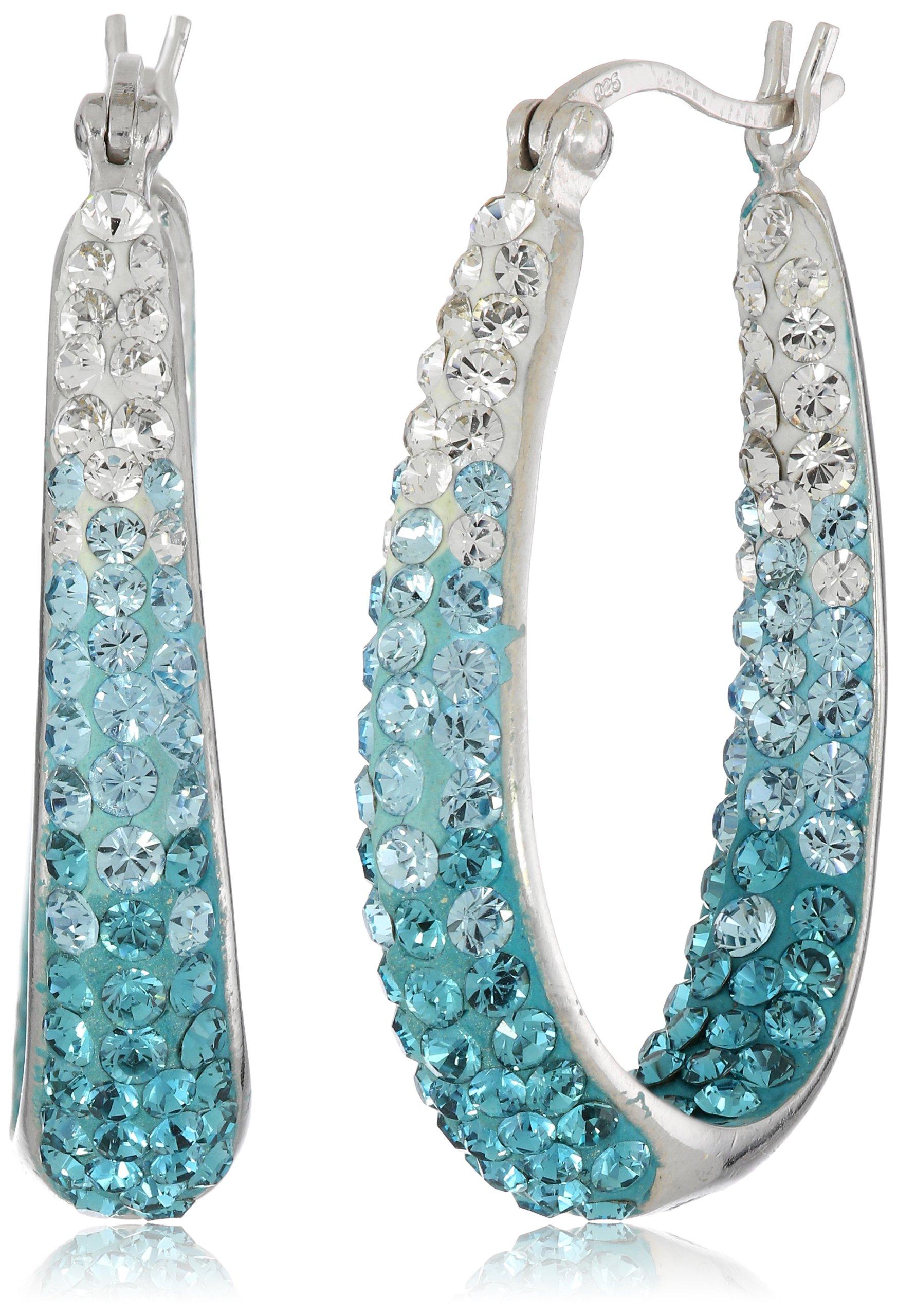 Carnevale Sterling Silver Hoop Earrings with Swarovski Elements  image
