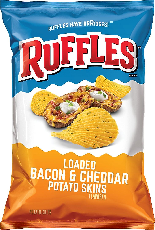 Ruffles Ridged Potato Chips, Loaded Bacon/Cheddar, 8.5 Ounce
