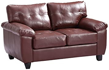 Glory Furniture G900A-L Loveseat, Brown