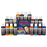 Createx Colors 5813-00 18 Color Airbrush Set with How to Begin Airbrushing DVD, 2 oz.