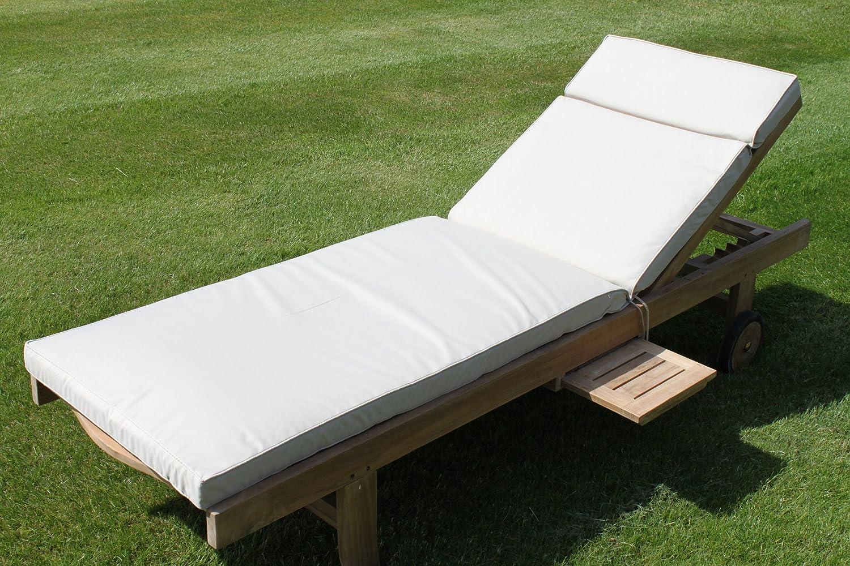 Gartenmöbel-Auflage - Auflage für Gartenliegestuhl in Hellbeige