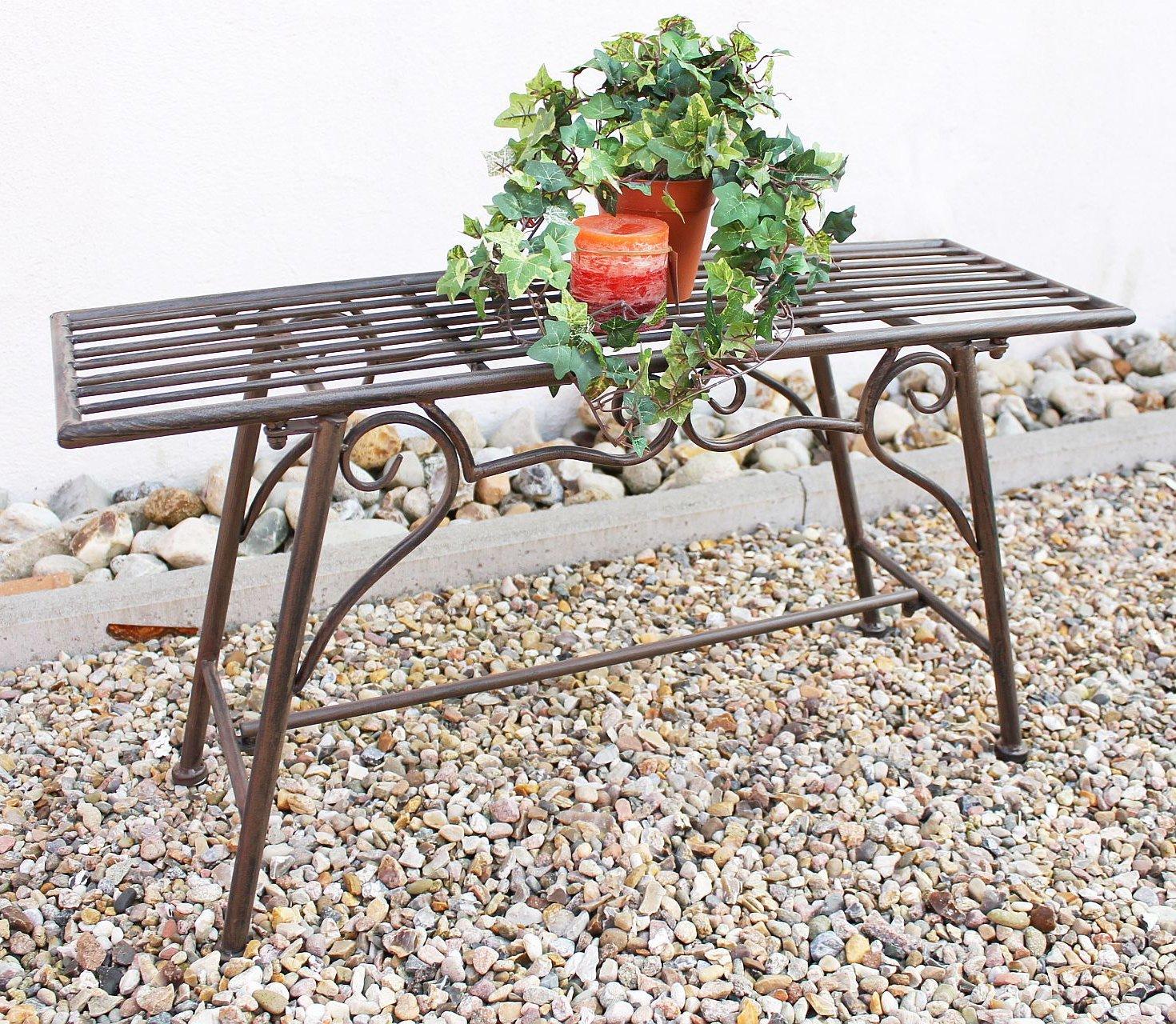 Bank Sitzbank CUCCIU-S B-83cm 077824 Gartenbank aus Metall Gartenmöbel günstig bestellen