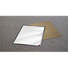 3M Clean-Walk Framed Mat 5840 White on Black, 31-1/2 in x 25-1/2 in Floor Mat (Pack of 1)