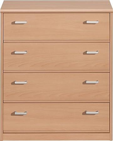 CS Schmalmöbel 55/34 Schubladenkommode 34 Soft Plus, 72 x 84 x 36 cm, buche