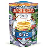 Keto Pancake & Waffle Mix by Birch Benders, Low-Carb, High Protein, Grain-free, Gluten-free, Low Glycemic, Keto-Friendly, Made with Almond, Coconut & Cassava Flour, 16 oz (Tamaño: 1 Pack)