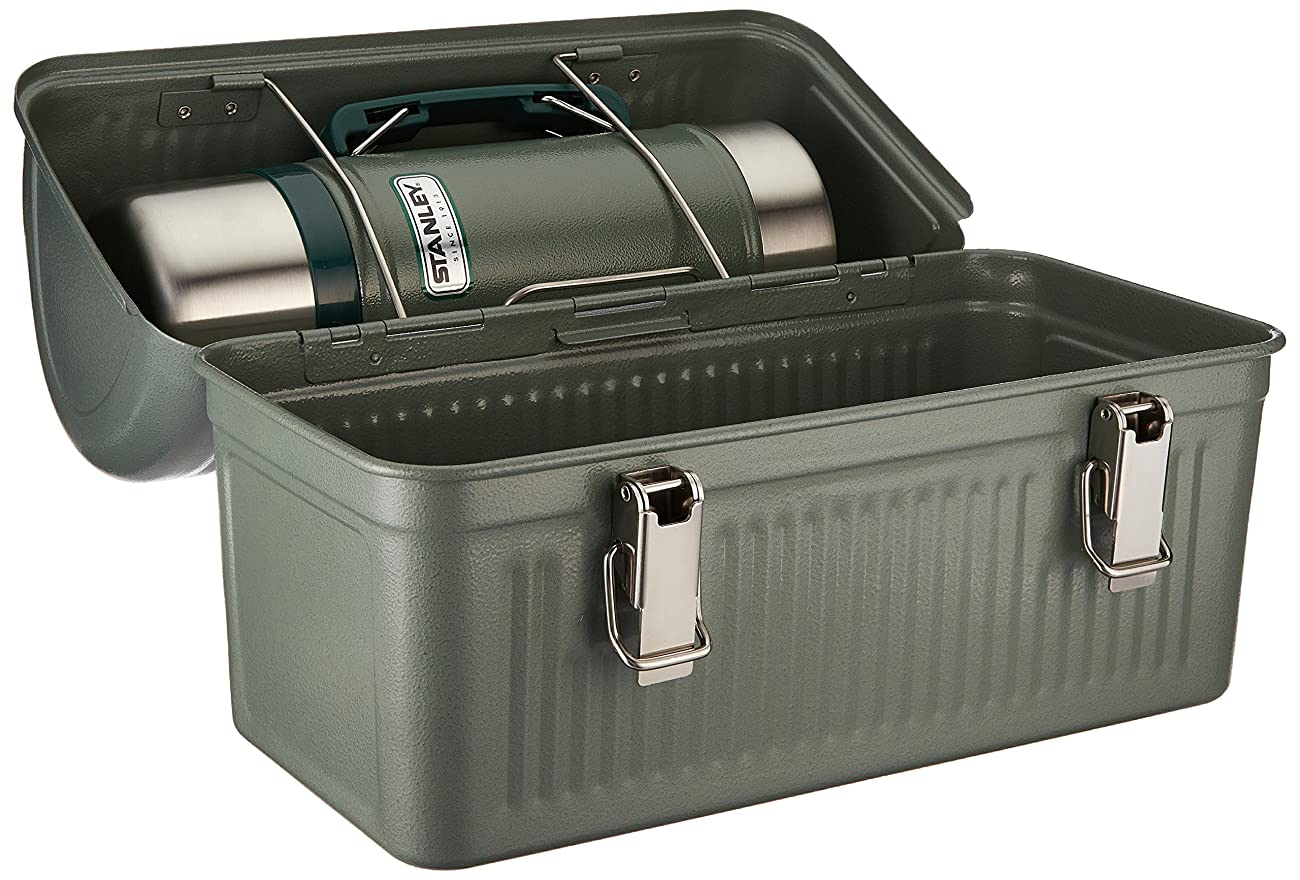 Stanley Classic Lunch Box and Classic Vacuum Food Jar Combo, Hammer Tone Green 1