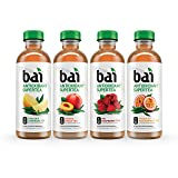 Bai Supertea Variety Pack, Antioxidant Infused Supertea, 18 Fluid Ounce Bottles, 12 count, (3 bottles each of Tanzania Lemonade Tea, Paraguay Passionfruit Tea, Rio Raspberry Tea, Narino Peach Tea)