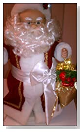 Telco Motionettes of Christmas Animated Lighted Santa 1990 Sculptured with Exclusive Porcelite