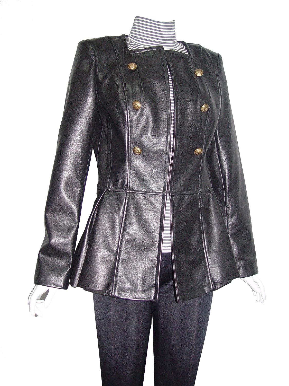 Nettailor WoHerren 4098 Leder lange Blazer Hook Eye Schlie?ung Peplum Taille kaufen