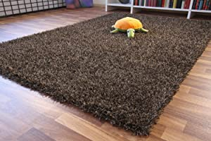 Shaggy Langflor Hochflor Teppich Funny Mystic  braun, Größe 140x200 cm Überprüfung und Beschreibung