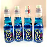Ramune Japanese Soft Drink Blueberry Flavor(4 Pack)