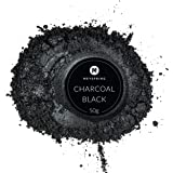 MEYSPRING Charcoal Black Epoxy Resin Color Pigment - 50 Grams Jar Mica Powder for Epoxy and Resin Art - Lumps Free - Create Cells Without Resin Blast - Great for Art Resin, Ecopoxy, UV Resin (Color: Charcoal Black, Tamaño: 50g)