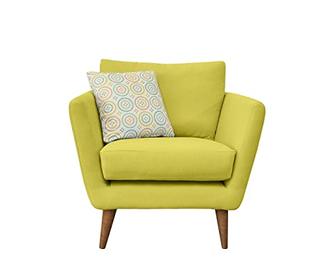 Fizz Chair, Fabric - Yellow