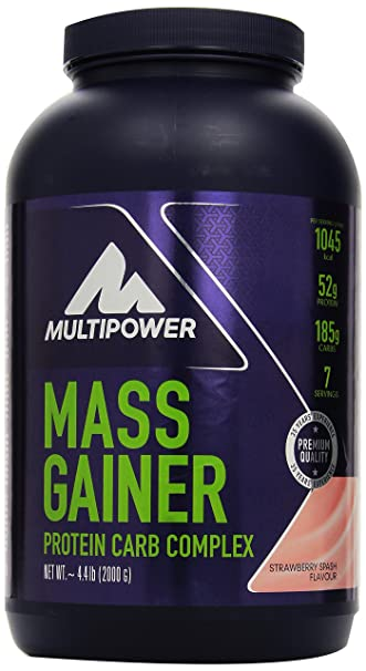 Multipower Mass Gainer Strawberry 2000 g, 1er Pack (1 x 2 kg)