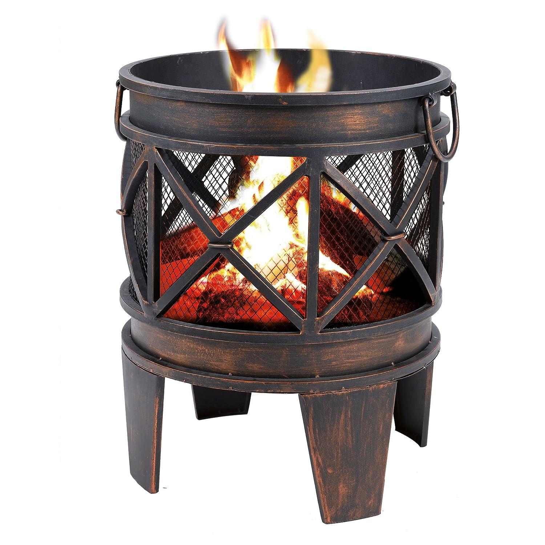 Feuerstelle / Feuerkorb ANTIK in Antik-Rost-Optik günstig online kaufen