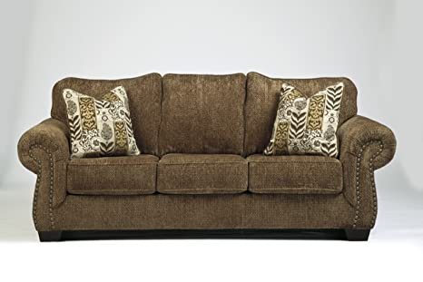 Westworth Umber Collection Traditional Design Fabric Upholstered Sofa Couch