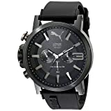 PUMA Men's PU103981002 Ultrasize 50 Analog Display Quartz Black Watch