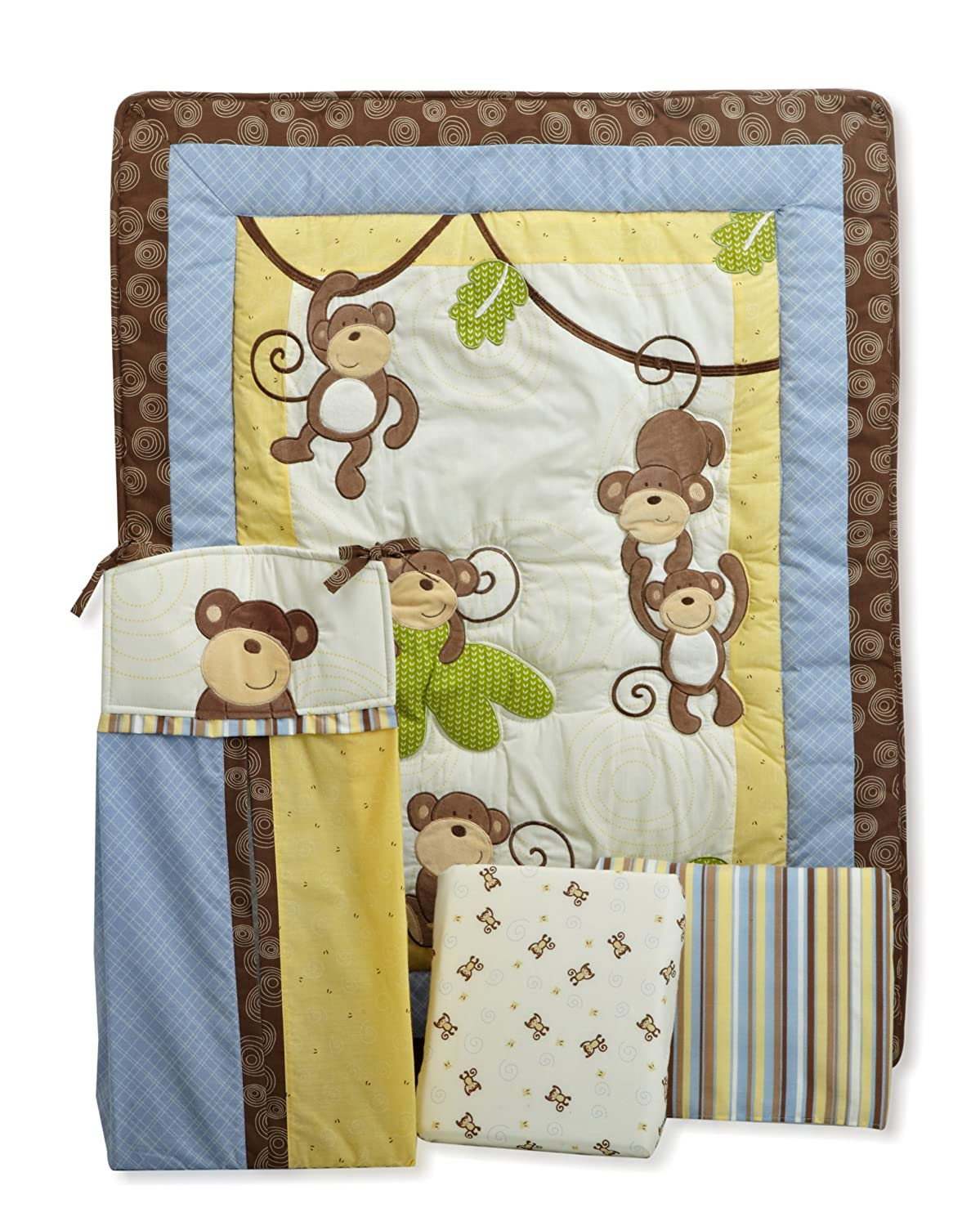 Coco and Company Monkey Time Crib Bedding