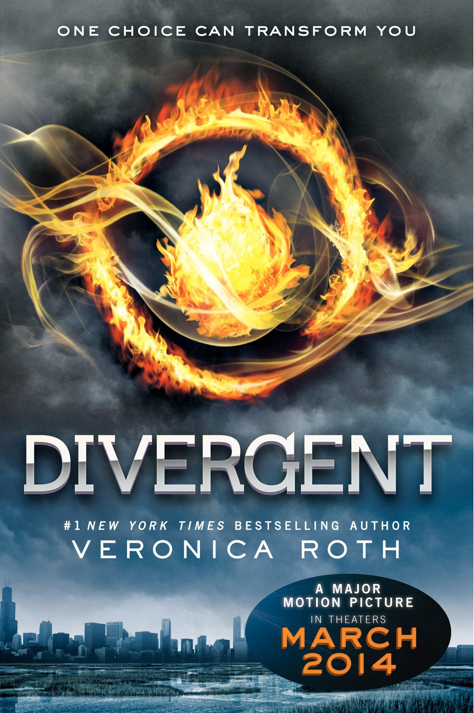 Book cover to 'Divergent'