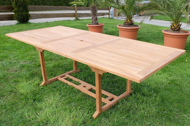 TEAK XXL Ausziehtisch Holztisch Gartentisch Garten Tisch L: 180/240cm B: 100cm Gartenmöbel Holz geölt sehr robust Modell: TOBAGO von AS-S jetzt kaufen