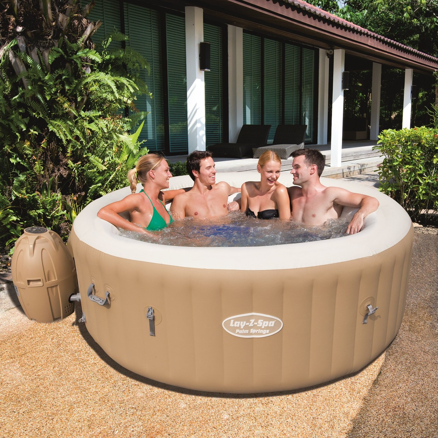 The Bestway hot tub reviews are quite favorable.