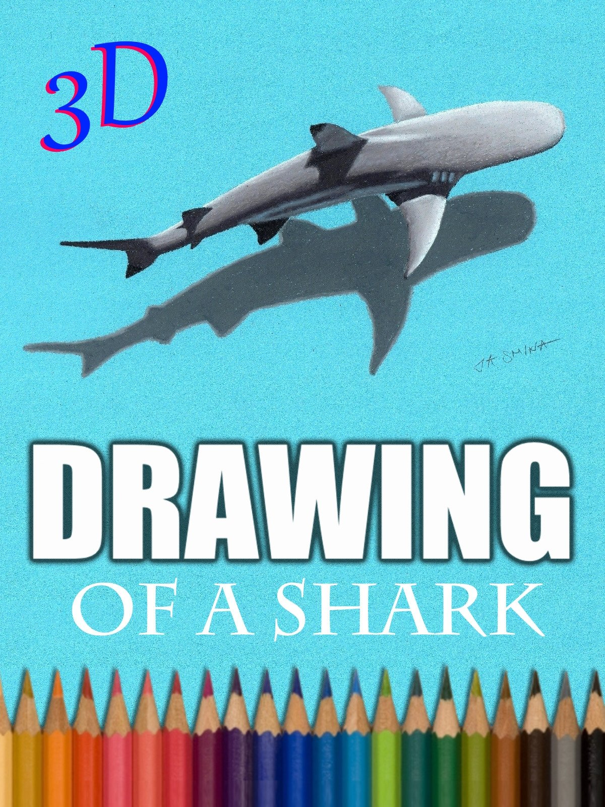 3D Drawing of a Shark