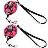 130DB Emergency Personal Alarm Key Chain,iDaye Ladybug-Shaped SafetyGuardSupplies,Protection Device with flash work for kids/elderlies/owls and ad