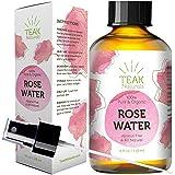 ROSE WATER TONER by Teak Naturals - 100% Organic Natural Moroccan Rosewater (Chemical Free) - 4 oz (Tamaño: 118 ml)