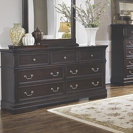 Coaster Home Furnishings 203262 Traditional Dresser, Dark Cherry