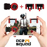Mobile Game Controller w/Joystick - Android Gaming Triggers for PUBG/Knives Out/Rules of Survival/Fortnite - High Sensitivity L1R1 Gamepad - for iPhone Huawei Samsung by Ace Squad (Color: AS-TriggerJoystick)