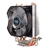 Zalman Silent CPU Cooler with Direct Touch Heat-Pipe Base CNPS7X LED+ (Color: Black/silver)