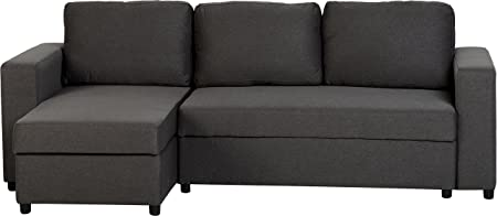 Seconique Dora Corner Sofa Bed - Dark Grey Fabric