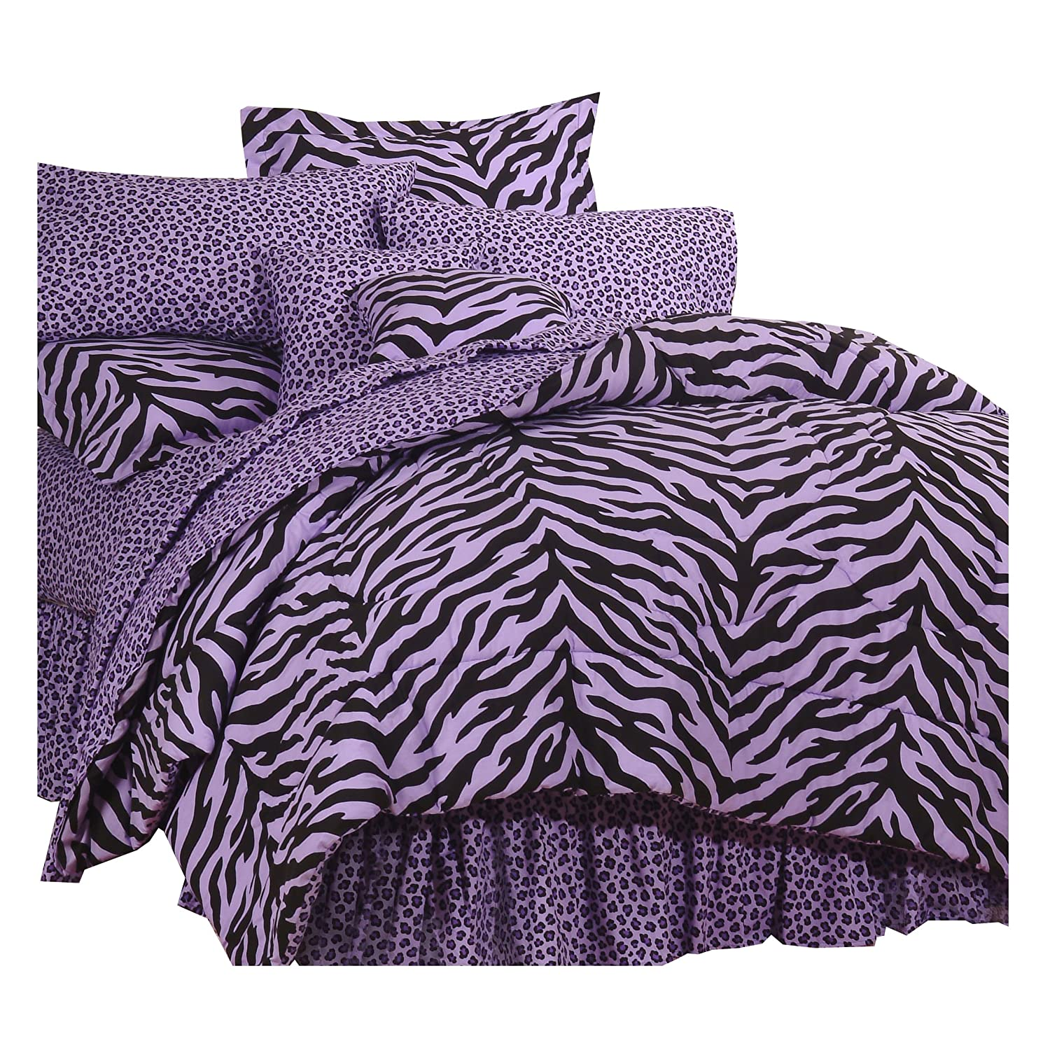 Purple Zebra Bedding Full Size