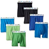 Fruit of the Loom Boys' Toddler Boxer Brief, Exposed and Covered, Assorted Color Stripes and Solids with White Waistband, 2T/3T (Color: Assorted Color Stripes and Solids With White Waistband, Tamaño: 2T / 3T)