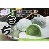 Japanese Rice Cake Mochi Daifuku (Green Tea) 7.4 oz / 210g (Pack of 1) (Color: Green)