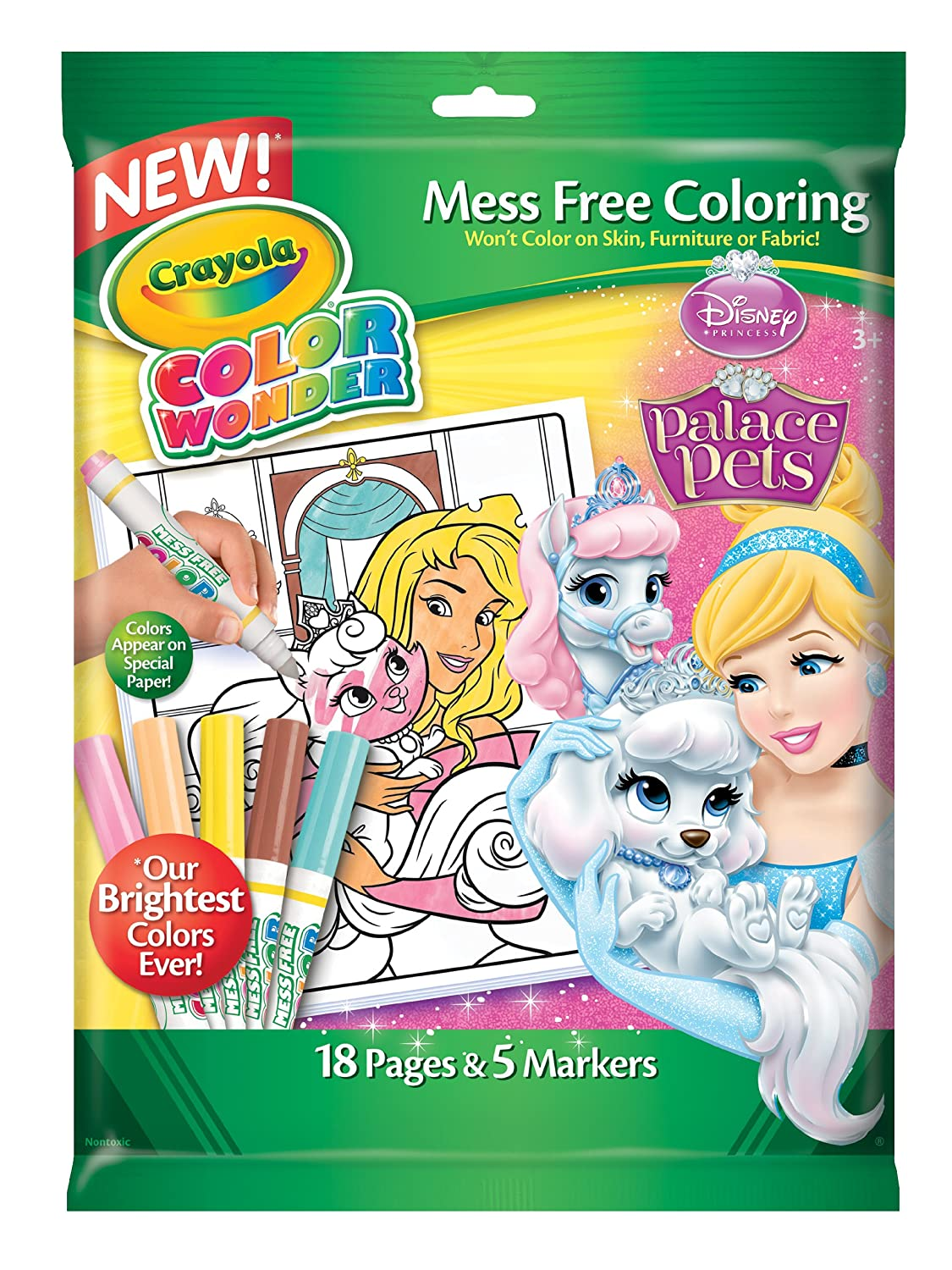 Color Wonder:Disney Princess Enchanted Coloring Book and Markers