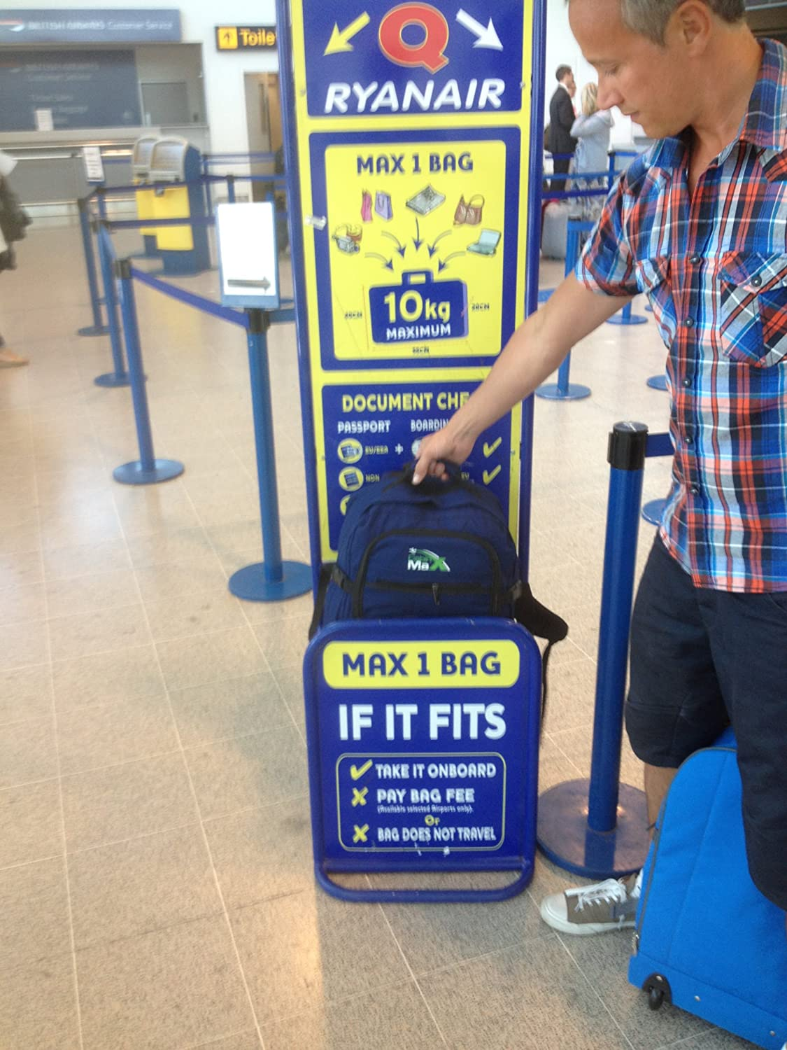 Ryanair carry on baggage charge