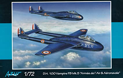 Maquette D.H.100 Vampire FB Mk.5 Armée de I'Air
