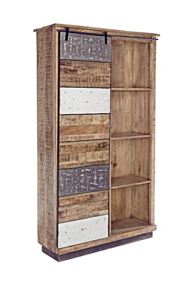Bizzotto Tudor Libreria 1A-4P, Metallo, Marrone, 109 x 35 x 190 cm