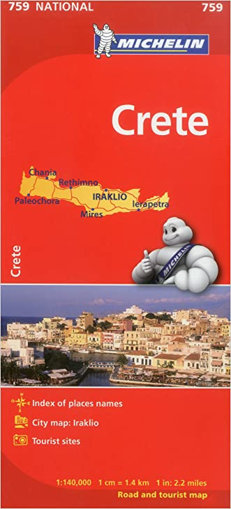 Michelin Map Crete 759 (Maps/Country (Michelin))