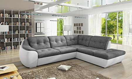 Sofa Couchgarnitur GALAXY D Polstergarnitur Couch Sofagarnitur Wohnlandschaft Schlaffunktion