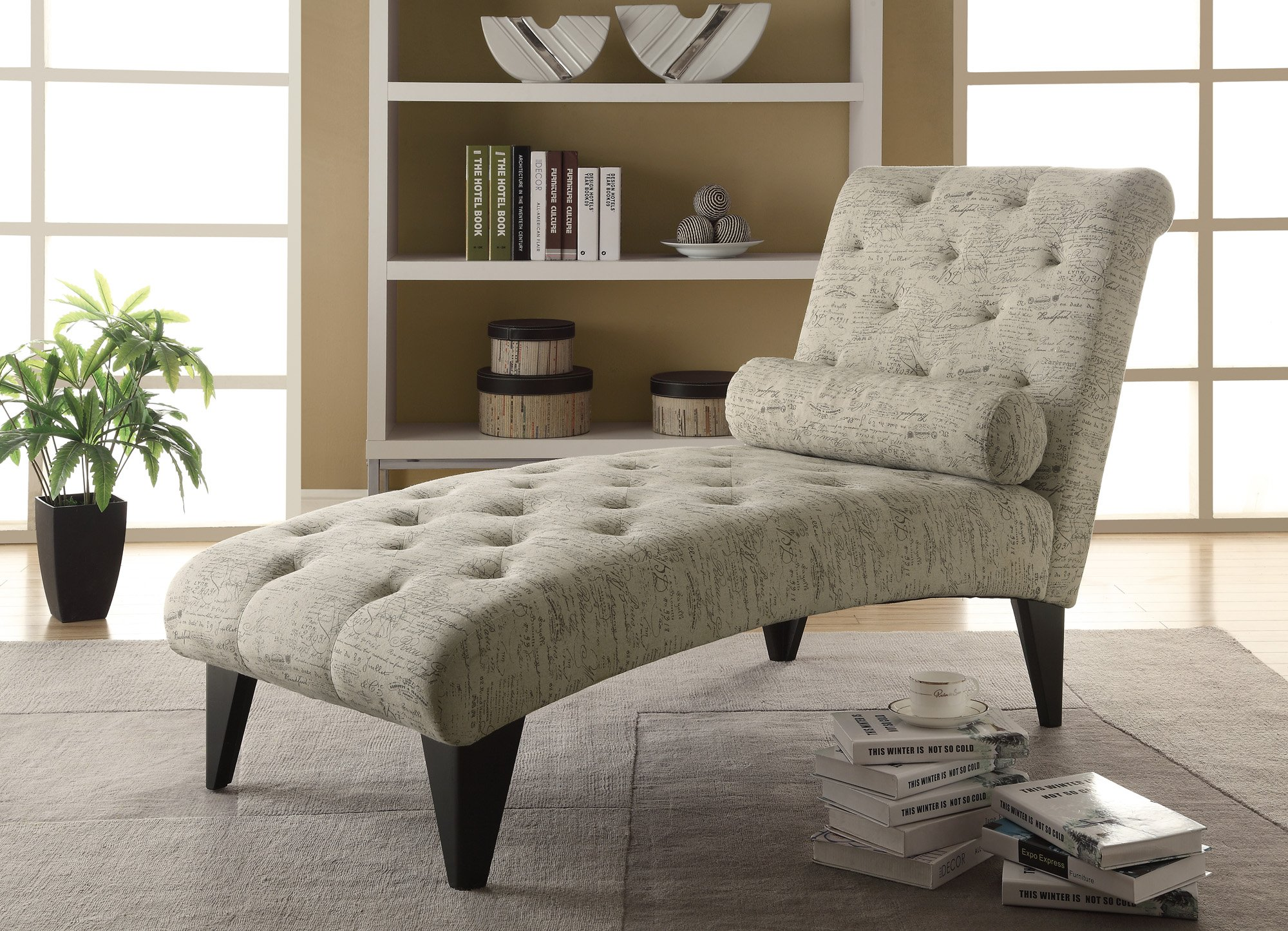 Monarch Vintage French Fabric Chaise Lounger