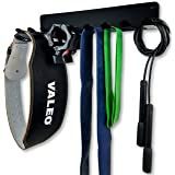 OMEGA Multi-Purpose Gym Storage Hanger / Heavy Duty Gym Rack for Lifting Belts, Chains, Exercise Bands, Jump Ropes (mounting hardware included) - LIFETIME WARRANTY (Color: Matte Black, Textured Flat Black)