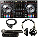 Pioneer DDJ-SZ2 4 Channel Controller with Shure BLX24/SM58 Wireless Mic and DJ Headphones (Tamaño: Large)