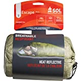 S.O.L Survive Outdoors Longer Escape Series 70 Percent Heat Reflective Durable Lightweight Emergency Bivvy, Green (Color: Green, Tamaño: 70% Heat Reflective - 1 Person)