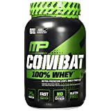 MusclePharm Combat 100% Whey – 25Gs of a Ultra-Premium, Gluten-Free, Low Fat Blend of Fast-Digesting Whey Protein for Performance, Recovery, and Muscle Building, Cappuccino, 2 Pound (Color: Brown, Tamaño: 2 Pound)