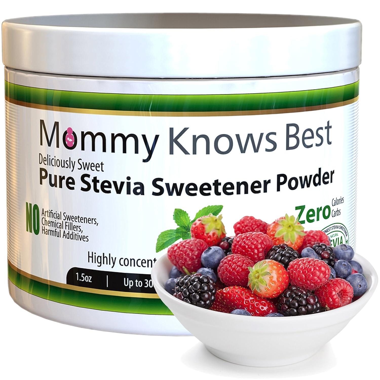 Pure Stevia Powder Extract Sweetener - Zero Calorie Sugar ...